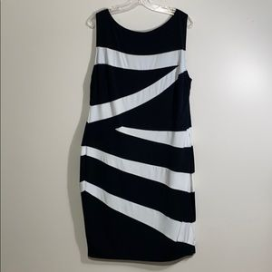 Black & White Tummy Control Dress